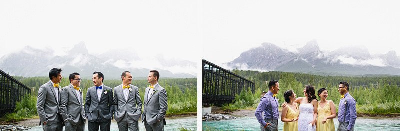 canmore bridal party photographer