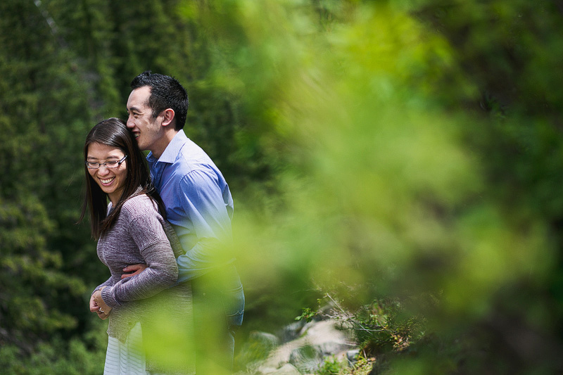 BC forest engagement photographer
