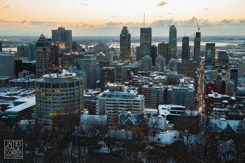 Montreal Downtown Sunrise