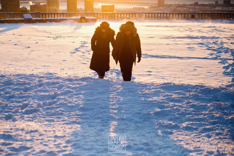 mont royal sunrise Proposal Photographer