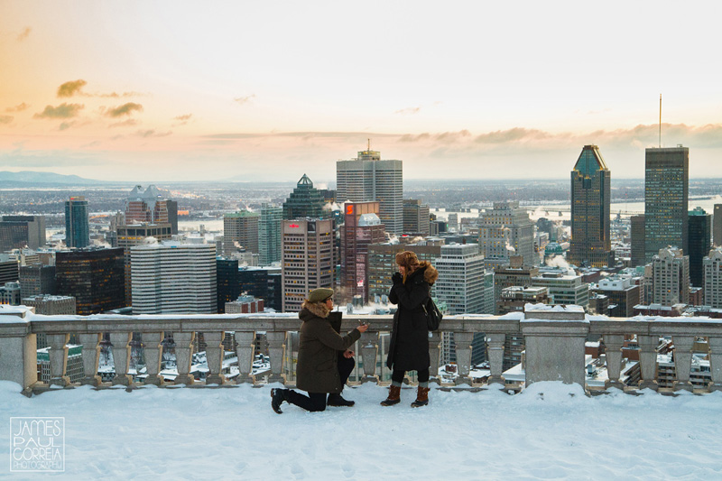 Montreal Surprise Proposal Photographer
