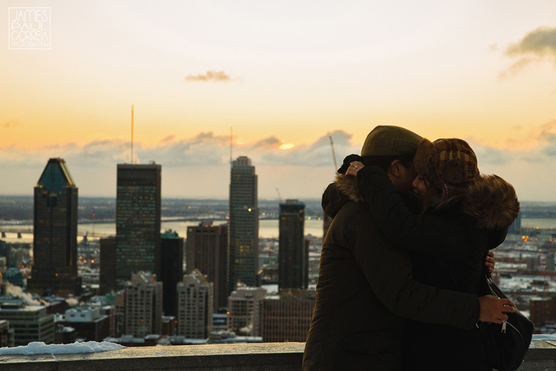Montreal Sunrise Proposal Photographer