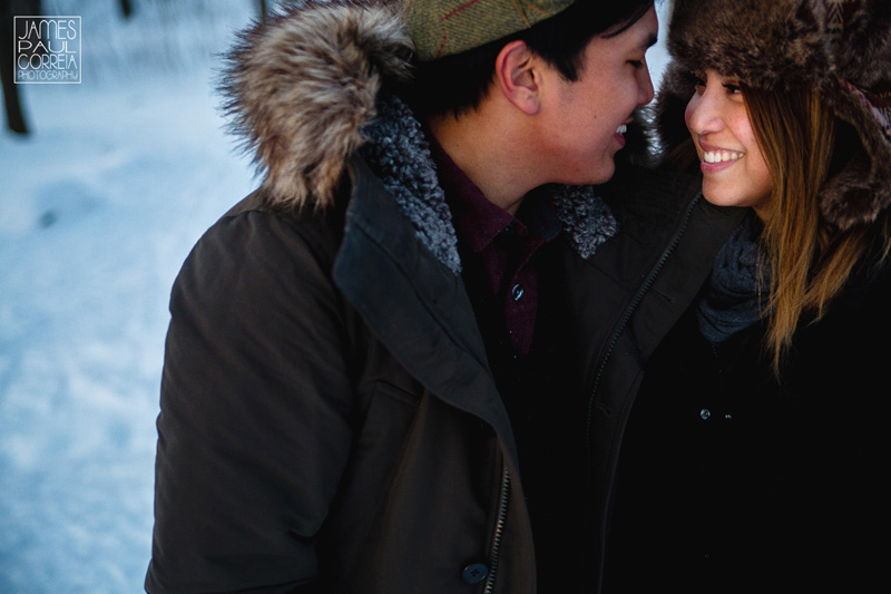 Montreal winter engagement shoot