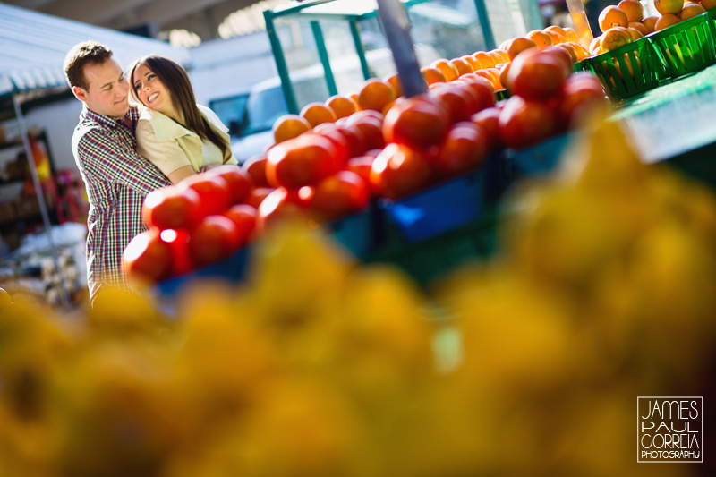 Jean talon market montreal engagement photographer
