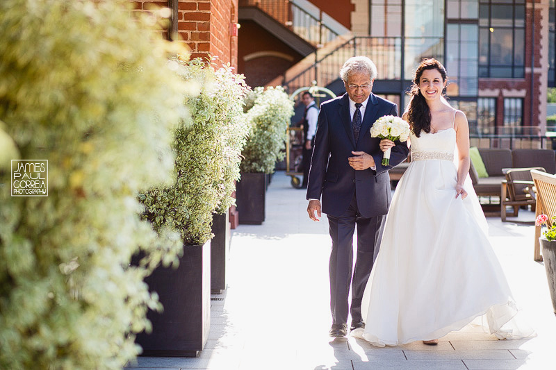 fairmont heritage wedding photographer bride and father