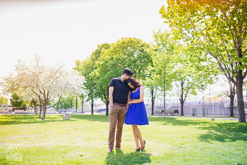 old montreal engagement session