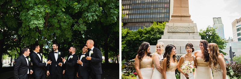 old montreal wedding photographer bridal party