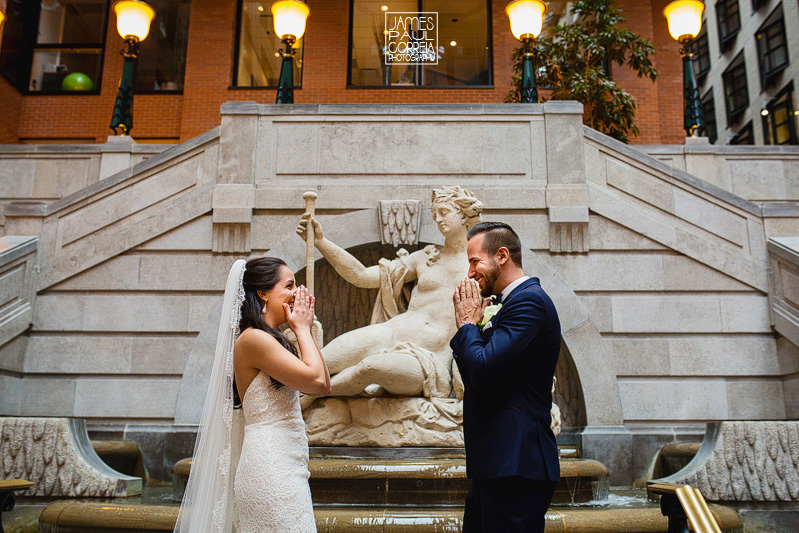 montreal wedding photographer first look