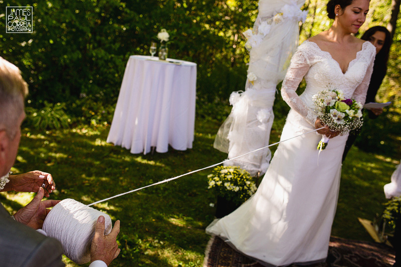backyard wedding ceremony string