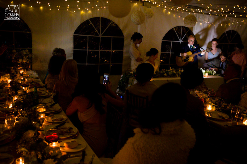 toronto wedding tent reception singing
