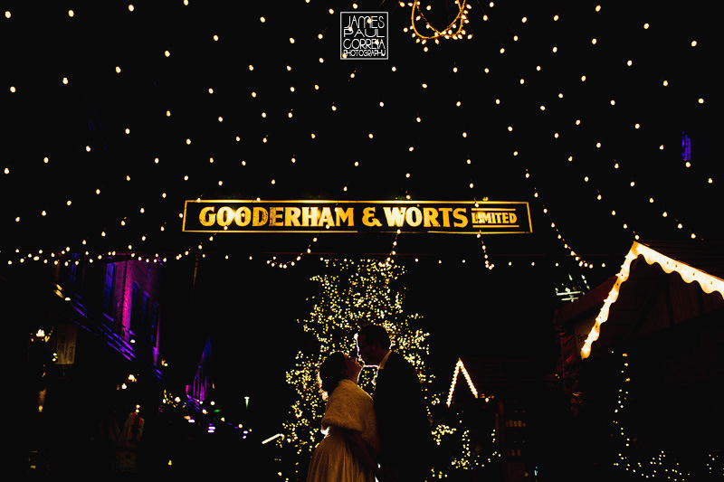 Distillery District Christmas Market Wedding Photographer