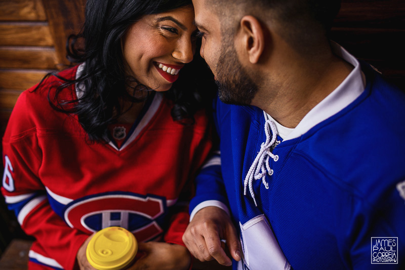 toronto hockey engagement photographer