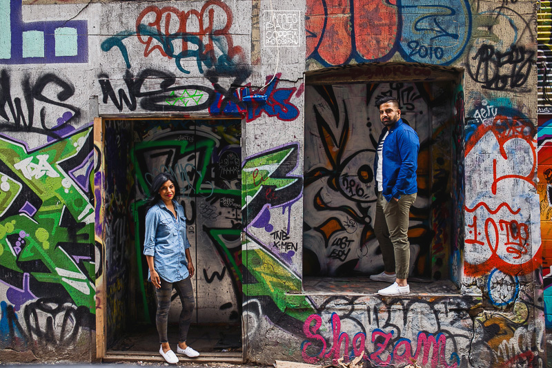 graffiti alley engagement photographer