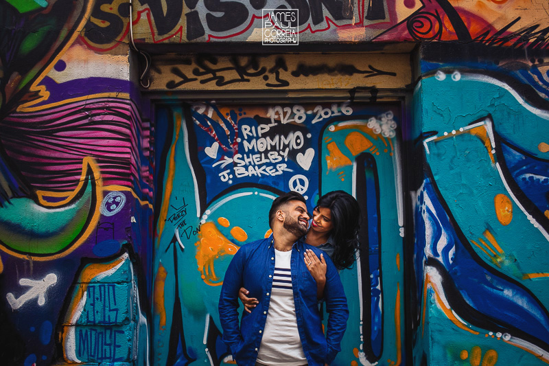 graffiti alley toronto engagement photographer