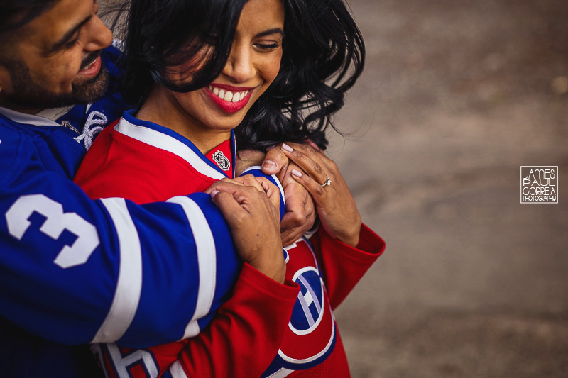 toronto hockey engagement session