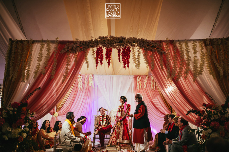 indian tent wedding ceremony photographer