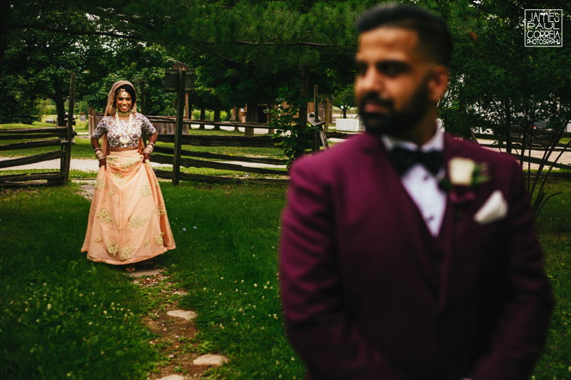 wedding first look photography