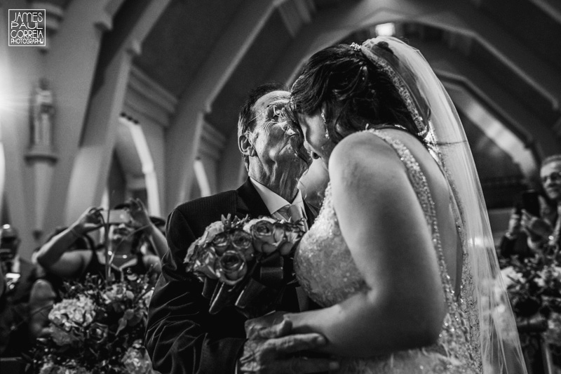 St Maron Cathedral wedding photographer father gives away