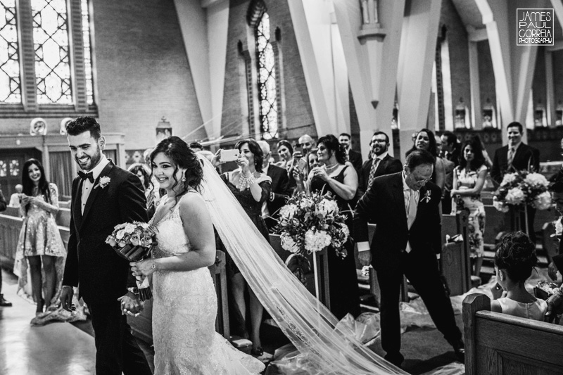 St Maron Cathedral wedding photographer bride and groom